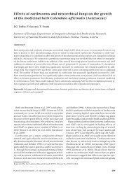Effects of earthworms and mycorrhizal fungi on the growth of the ...