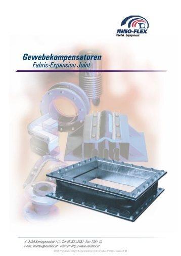 Gewebekompensatoren Fabric-Expansion Joint - INNO-FLEX