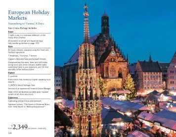 European Holiday Market - Uniworld River Cruises