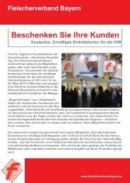 Bestellung - Fleischerverband Bayern