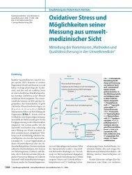 Oxidativer Stress und Möglichkeiten seiner Messung aus ... - RKI