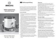 Bedienungsanleitung Instruction Manual Einkoch-Vollautomat KA ...