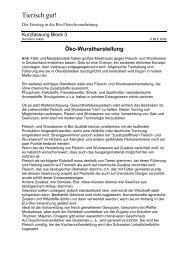 Öko-Wurstherstellung - Oekolandbau.de