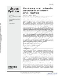 Monotherapy versus combination therapy for the treatment of ...