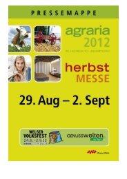 Pressemappe 2012__END - Messe Wels