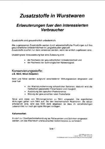 Zusatzsto ffe in Wurst waren - Landfleischerei – Peter – Müller