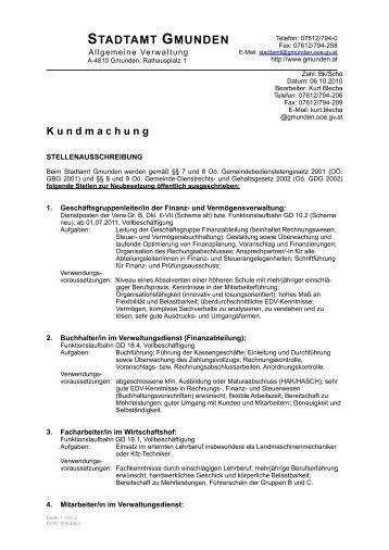 K undmachung - Gmunden