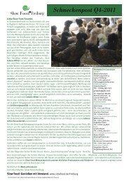 Schneckenpost Q4-2011 - Slow Food Deutschland eV