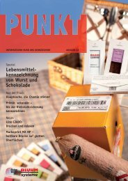 Lebensmittel - kennzeichnung von Wurst und Schokolade