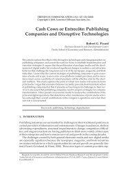 Publishing Companies and Disruptive Technologies - Robert Picard