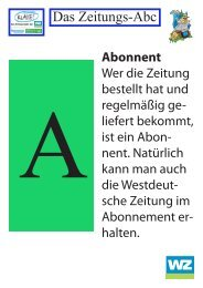 Das Zeitungs-Abc - Westdeutsche Zeitung