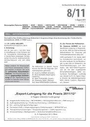 """""""Export-Lehrgang für die Praxis 2011/12"""" - Kitzler Verlag"""