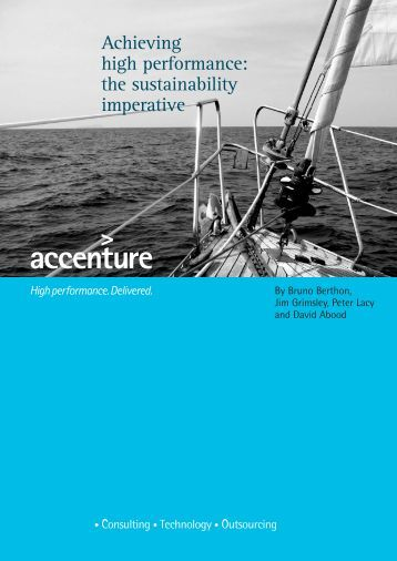 Achieving high performance: the sustainability imperative