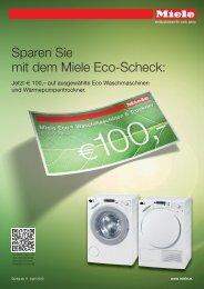 Sparen Sie mit dem Miele Eco-Scheck:
