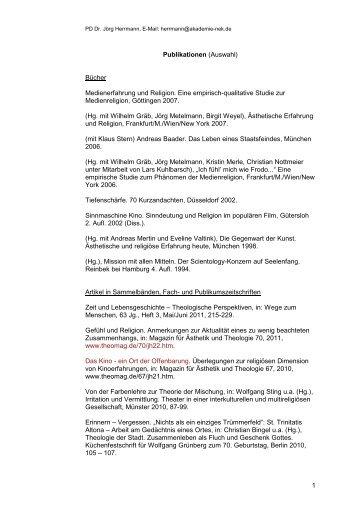 Bibliografie - Fachbereich Evangelische Theologie