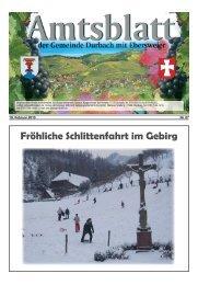 Fröhliche Schlittenfahrt im Gebirg - Durbach