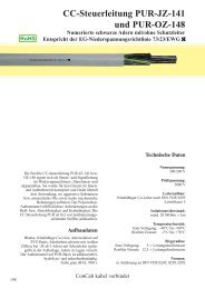 CC-Steuerleitung PUR-JZ-141 und PUR-OZ-148 - ConCab kabel ...
