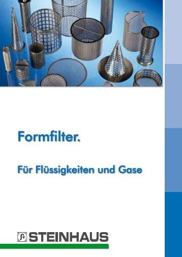 Formfilter. - Steinhaus GmbH