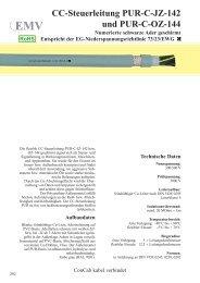 CC-Steuerleitung PUR-C-JZ-142 und PUR-C-OZ-144
