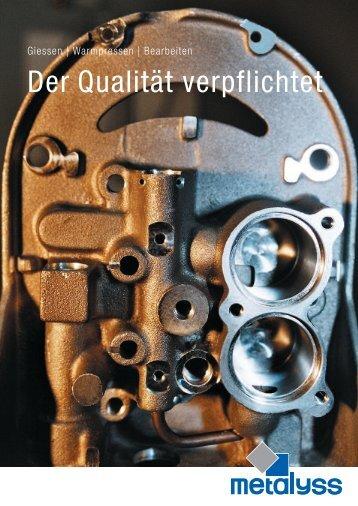 Der Qualität verpflichtet - Industrie-Schweiz