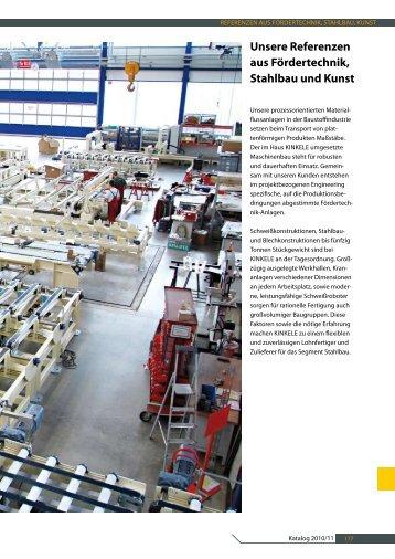Unsere Referenzen aus Fördertechnik, Stahlbau und Kunst - Kinkele