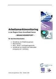 Arbeitsmarktmonitoring in der Region Kreis Unna/Stadt Hamm
