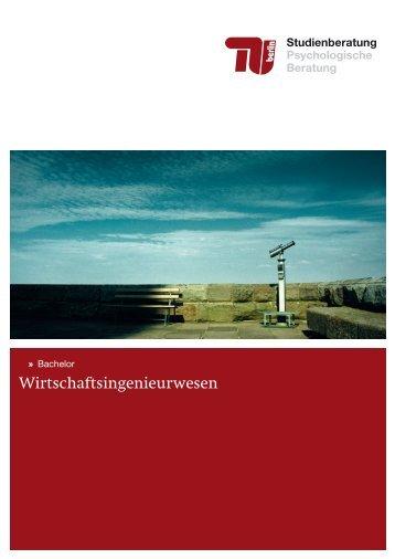 Wirtschaftsingenieurwesen - Allgemeine Studienberatung an der TU ...