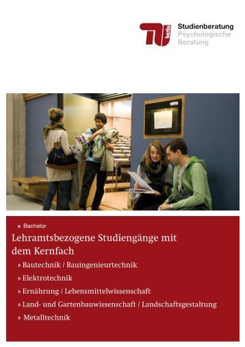 Lehramtsbezogene Studiengänge mit dem Kernfach - Allgemeine ...