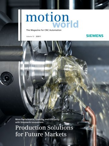 Production Solutions for Future Markets - Siemens