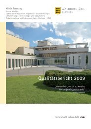 Qualitätsbericht 2009 - Klinik Tettnang