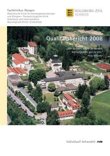 Qualitätsbericht 2008 Fachkliniken Wangen - Krankenhaus.de