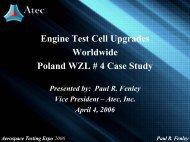 Engine Test Cell Upgrades Worldwide Poland WZL # 4 Case Study