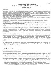 Tabelle der Lehrveranstaltungen - mibla.TUGraz.at