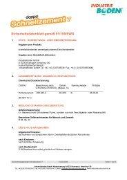 Sicherheitsdatenblatt gemäß 91/155/EWG - Industrieboden GmbH