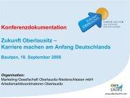 Konferenzdokumentation Zukunft Oberlausitz – Karriere machen am ...