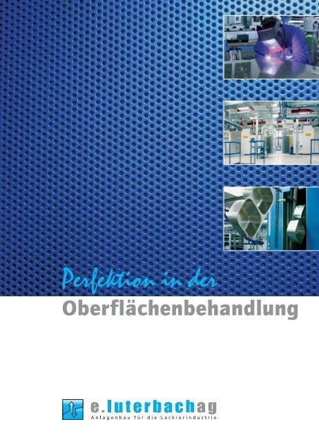 "Unser Magazin ""Perfektion in der ... - e.Luterbach AG"
