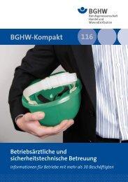 BGHW Kompakt 116 - Berufsgenossenschaft Handel und ...