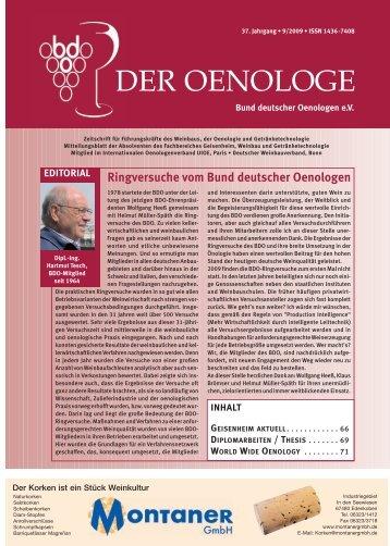DER OENOLOGE - Bund Deutscher Oenologen eV