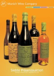 7. präsenzauktion erlesener weine - Munich Wine Company