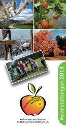Das Jahresprogramm 2013 als download - Kreisverband der Obst ...
