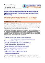PR-Mitteilung Systems 2008-WZN-Seminar ... - PresseBox