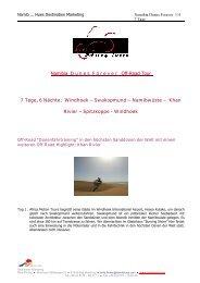 Namibia D u n e s F o r e v e r Off-Road Tour 7 Tage, 6 ... - NamibHues