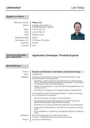 Application Developer / Produkt-Experte - DTIC - Universitat ...