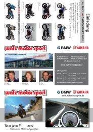 Einladung - walz motor sport gmbh
