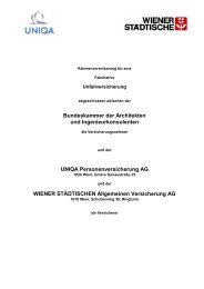 Bundeskammer der Architekten und Ingenieurkonsulenten UNIQA ...