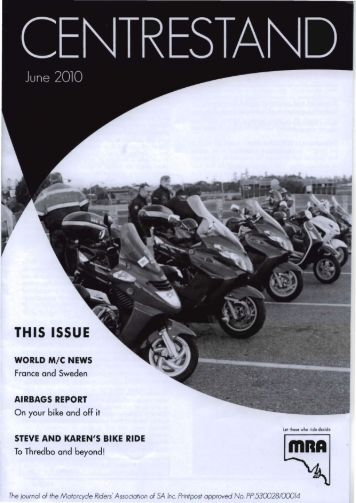 THIS ISSUE - Motorcycle Riders Association of SA