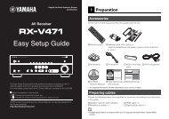 Easy Setup Guide - Yamaha Downloads
