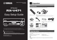 Easy Setup Guide - Yamaha Downloads