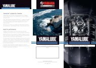 Yamalube marine oil flyer - Yamaha Motor Europe