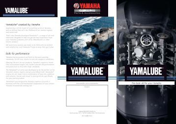 Yamalube marine oil flyer - Yamaha Motor Europe